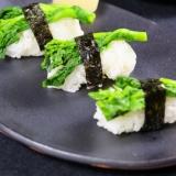 菜の花の握り寿司。