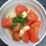 トマトと大葉の簡単サラダ