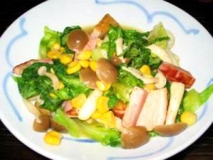 簡単!彩り鮮やかなサラダ菜炒め