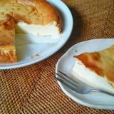 水切りヨーグルトで♪簡単ベイクドチーズケーキ