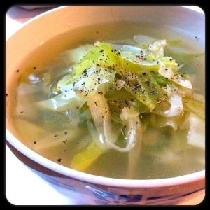 長ねぎと生姜のスープ