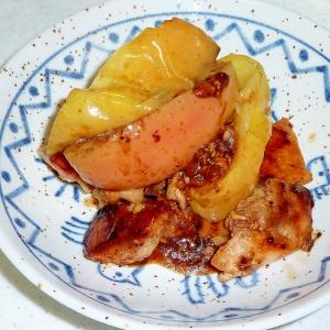 鶏とリンゴのソテー