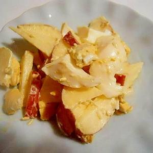 ゆで卵と林檎 昆布茶&マヨサラダ