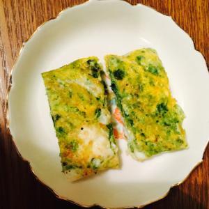 アオサ入りの卵焼き