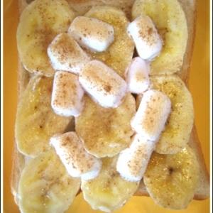 カリッとろっ♪朝食に嬉しいバナナトースト