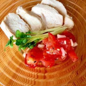 トマトたっぷり☆イタリアン蒸し鶏