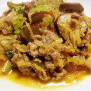 大根と豆腐皮のひき肉炒め