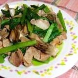 小松菜と舞茸の中華炒め