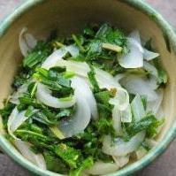 青菜と玉ねぎのソテー