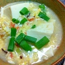 エビと豆腐の中華スープ