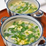 モロヘイヤと玉ねぎの卵スープ
