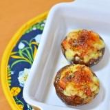 【美味~♪】椎茸のキムチマヨチーズ焼き!
