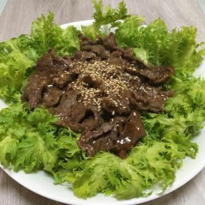 牛肉のわさびサラダ♪