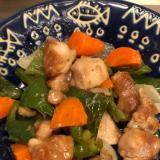 鶏肉と野菜のガーリック醤油炒め^_^