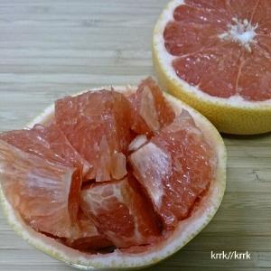 ピンクグレープフルーツ♪飾り切り♪