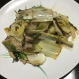 干し野菜の豚肉炒め