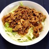 豚の生姜焼きサラダ丼