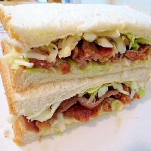 豚肉の生姜焼きサンドイッチ☆