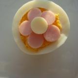 キャラ弁に!可愛いお花のゆで卵♡