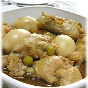 鶏手羽元とゆで卵のお酢でさっぱり煮