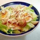 レタス・ゆで卵・茗荷の和風サラダ