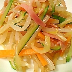 きゅうりともやしの中華サラダ
