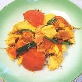 トマトとピーマンの卵炒め