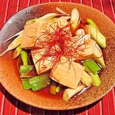 ねぎポン豆腐