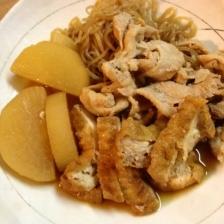 大根と厚揚げと豚肉の煮物☆おふくろの味