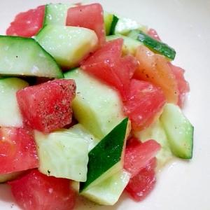 トマトときゅうりの塩麹サラダ