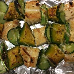 鶏肉と野菜の香辛料焼き