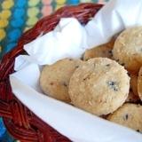 レンジとフライパンだけで米粉のざっくりクッキー♪