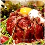 大好き♡ガッツリ、ローストビーフ丼♪