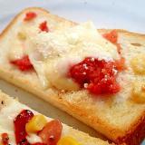 明太子とチーズのタルタルトースト