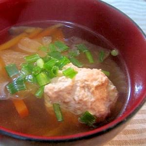 旨みたっぷり♪生姜入り鶏だんごのスープ