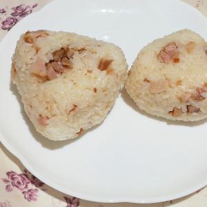 豚の角煮の残りで簡単魯肉飯?おにぎり
