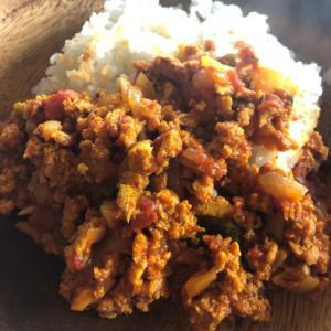 冷凍豆腐と干し椎茸de Vegan ドライカレー