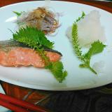 鮭の穂紫蘇プレート
