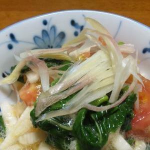 長芋とモロヘイヤのネバトロサラダ
