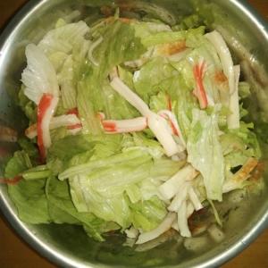 酢とめんつゆドレッシングのサラダ