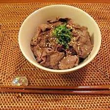 ☆牛肉のバルサミコ丼☆