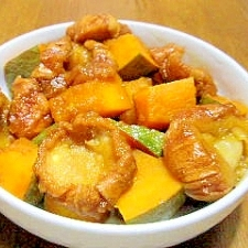 かぼちゃと油麩の煮物