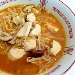 ピリッと中華風☆鶏辛味噌ラーメン