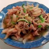 豚もも肉と白菜の和風炒め