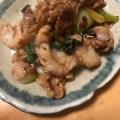 チンゲン菜と豚肉まいたけの焼肉のタレ炒め