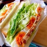 カフェ風厚切りベーコン サンドイッチ