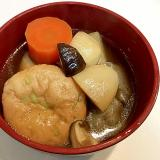 枝豆入りがんもどきで☆田舎こんにゃくと里芋の煮物