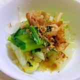 レンジで簡単♪小松菜と白菜の煮びたし