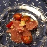 ミニトマトと生ハム、アーモンドのサラダ