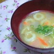 大根・人参・ちくわのお味噌汁